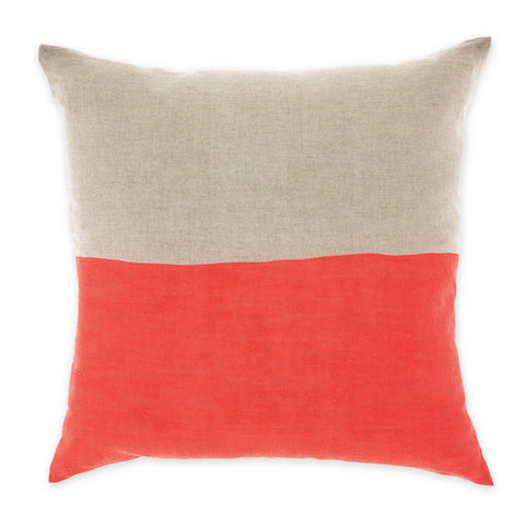 Neon Coral Dipped Cushion by Aura
