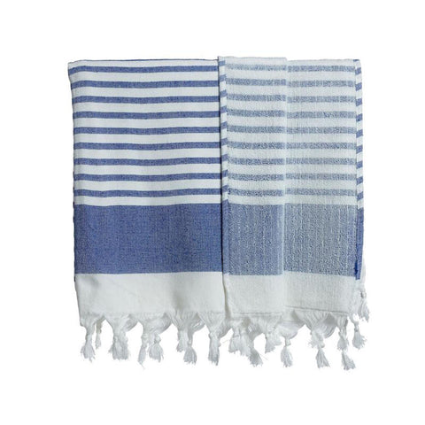Turkish Double Sided Towel by Selo and Salt | Blue