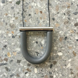 Jack by Sam grey nickel u bar necklace
