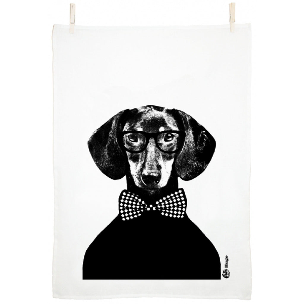 Lisa Bengtsson Dachshund Hugo Tea Towel