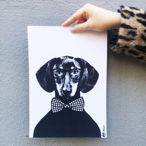 Hugo A4 Wall Print by Studio Lisa Bengtsson