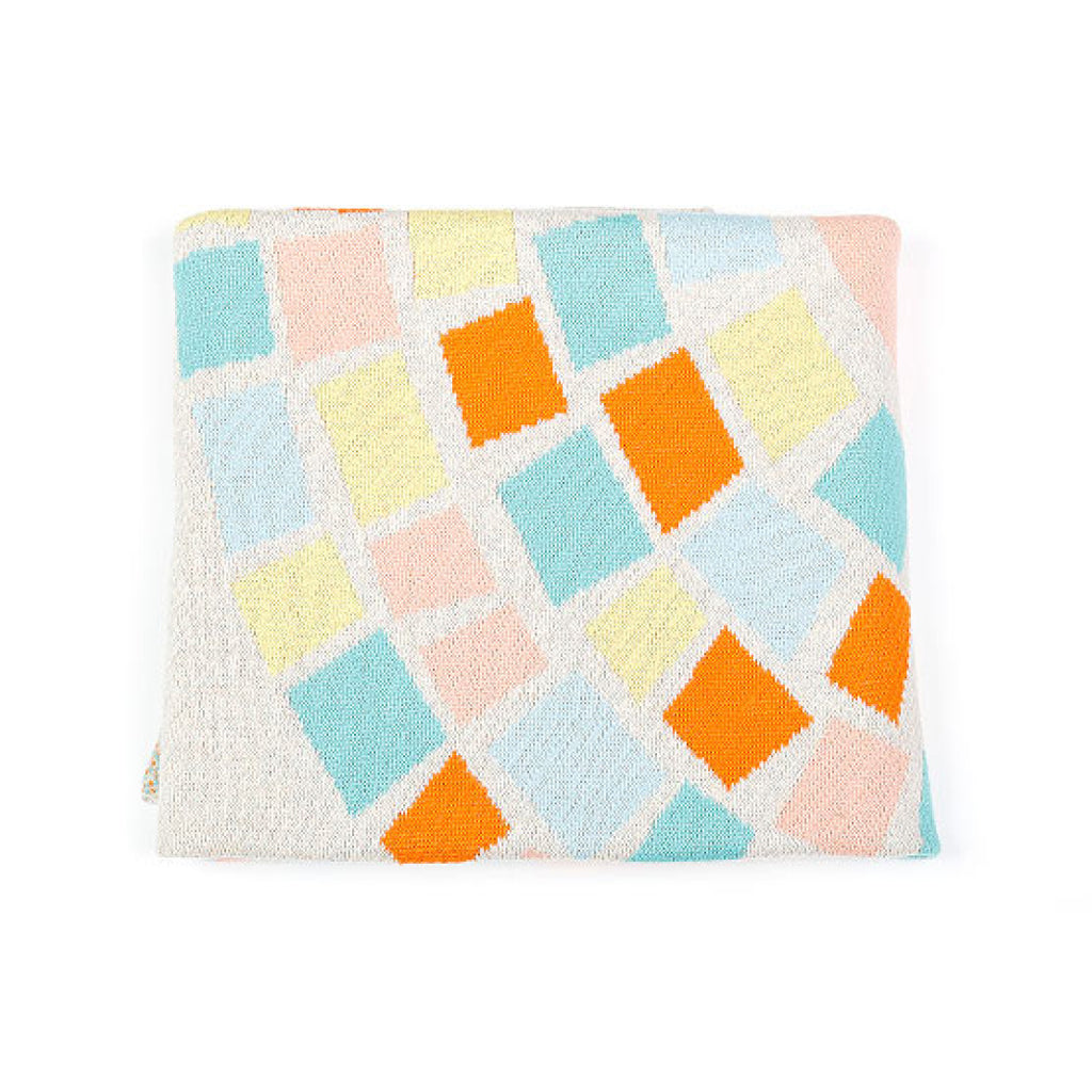 Indus Design baby blanket with colourful circle of life print