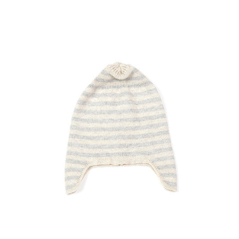 Baby Ear Flap Hat by Indus Design | Neutral Grey