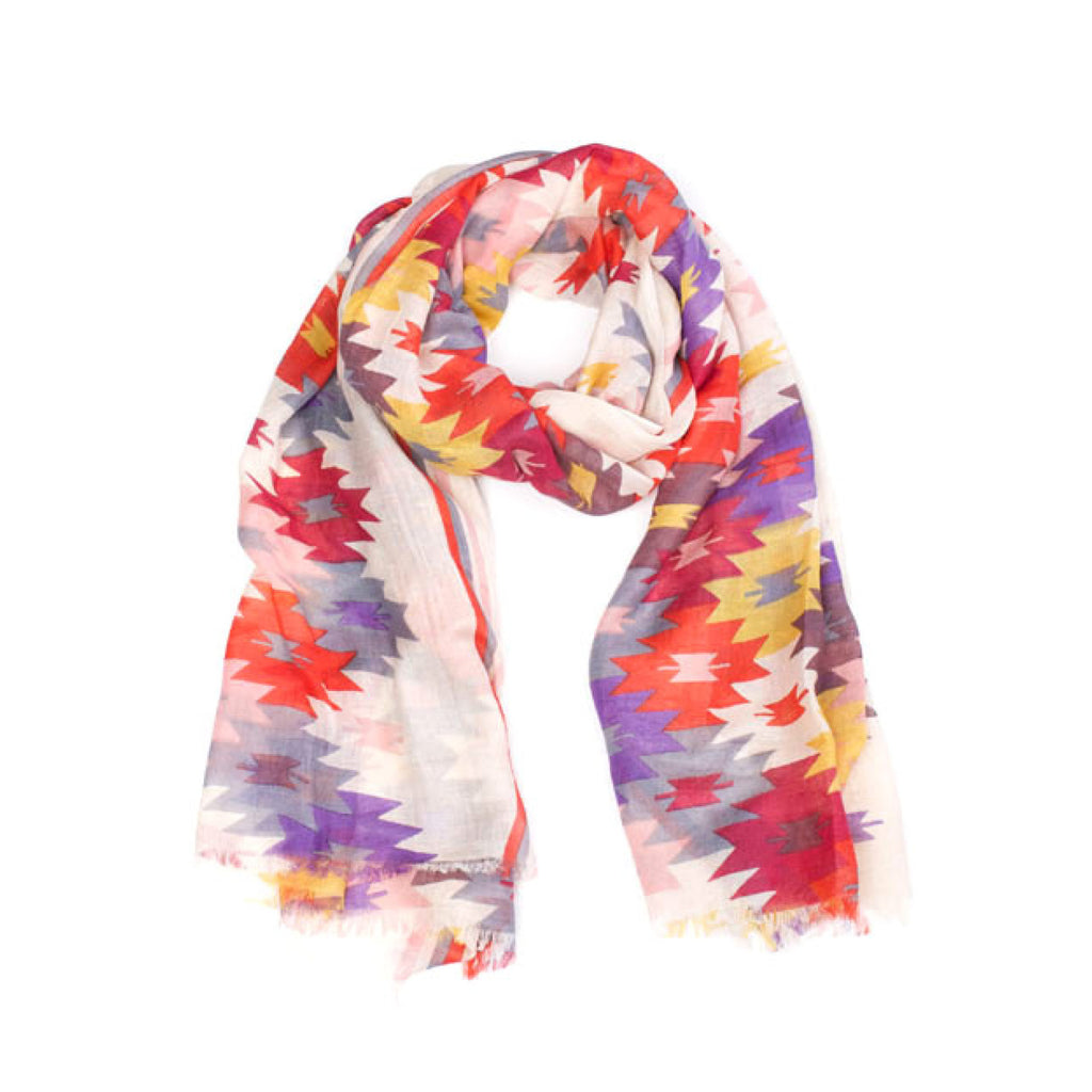 Indus Design Bright Colour Printed Scarf