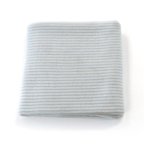 Rib Knit Glacier Baby Blanket by Indus Design