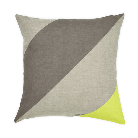 Lime Jumbo Stripe Cushion by Aura