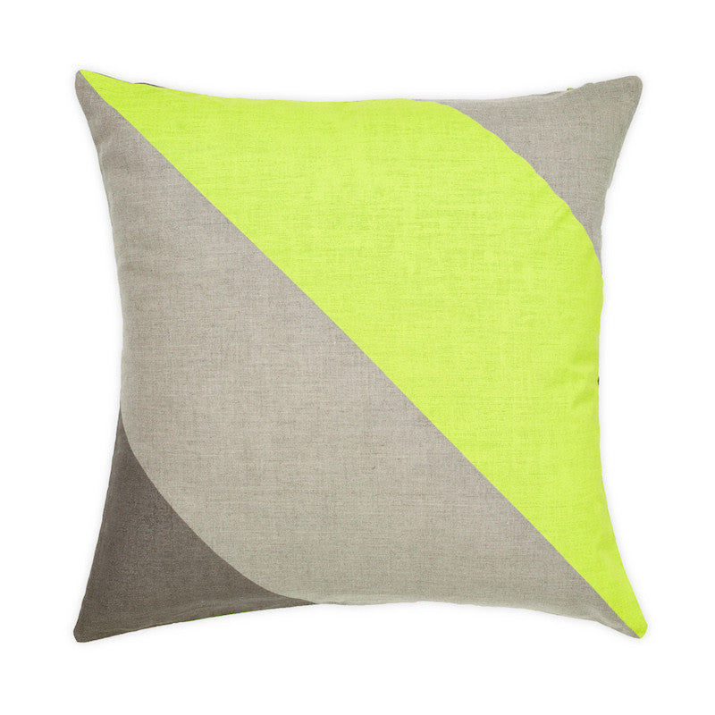 Aura by Tracie Ellis Lime Green Jumbo Stripe Cushion