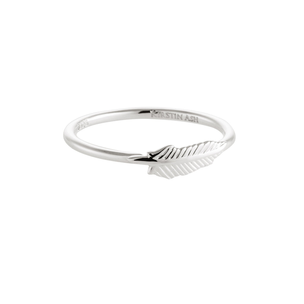 Feather Ring by Kirstin Ash | Silver