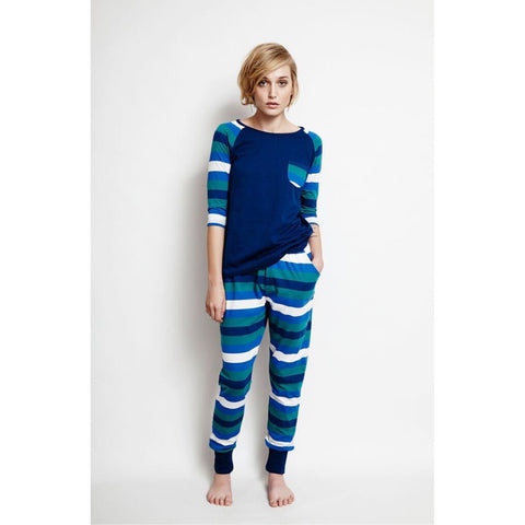 Mountain Stripe Raglan T-shirt by Alas