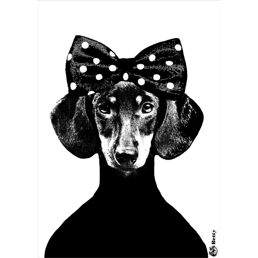 Lisa Bengtsson Dachshund Betty Poster Print