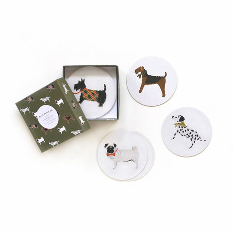 Dog Coaster Set by Rifle Paper Co