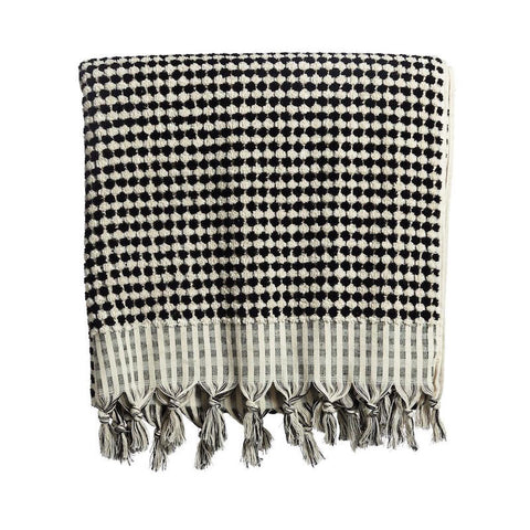 Spotted Luxury Turkish Towel by Selo and Salt | Black