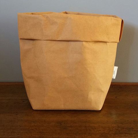 Washable Paper Bag by Made by Frank | Tan Large