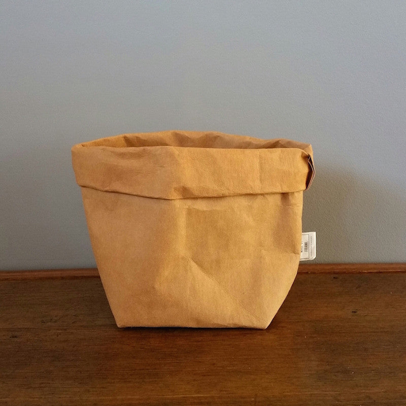 Made by Frank Natural Tan Washable Paper Storage Bag
