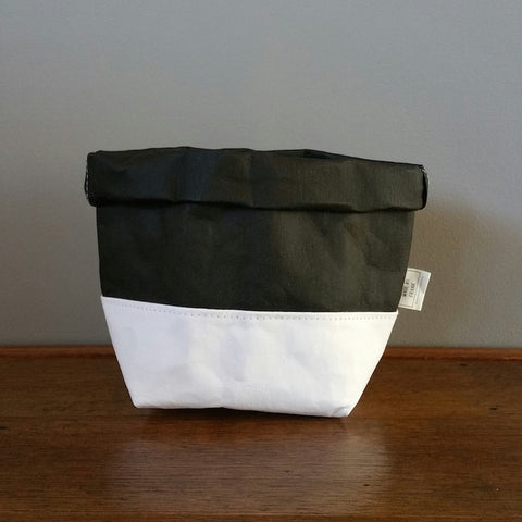 Washable Paper Bag by Made by Frank | Black White Medium
