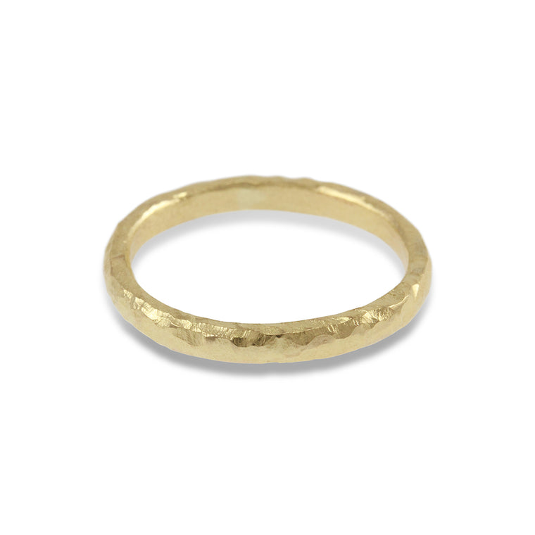 9ct yellow gold ring handmade in london