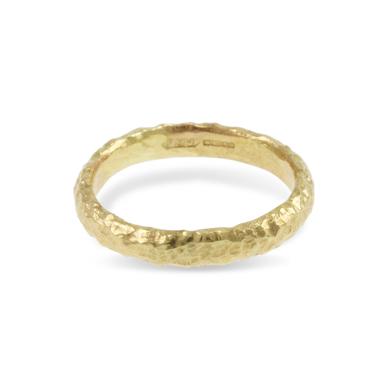 Handcrafted 9ct yellow gold ring made in London