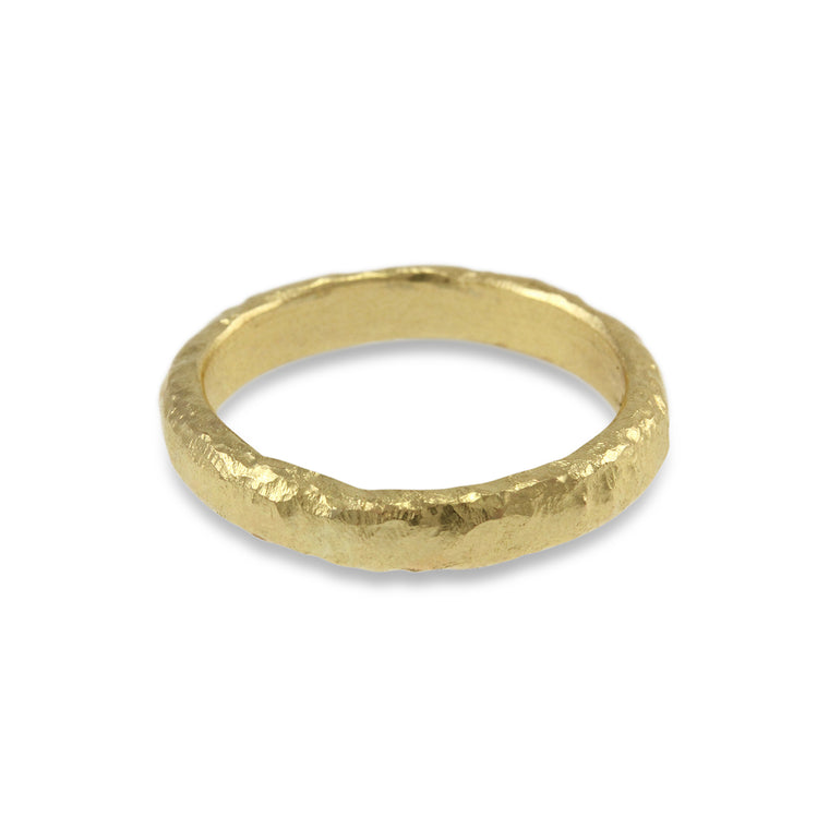 Copy of Handcrafted 9ct yellow gold ring made in London