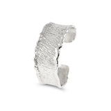 Cuff handcrafted in silver with reticulated edges. - Paul Magen