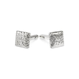 Cufflinks handmade in silver with a rustic texture. - Paul Magen