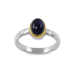 Handmade Amethyst Gold and Silver Ring