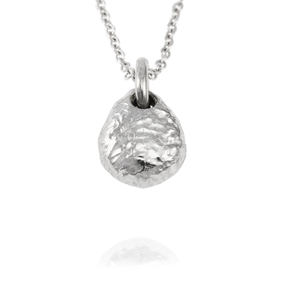"Duco pendant in sterling silver on a 46cm 18"" trace chain"