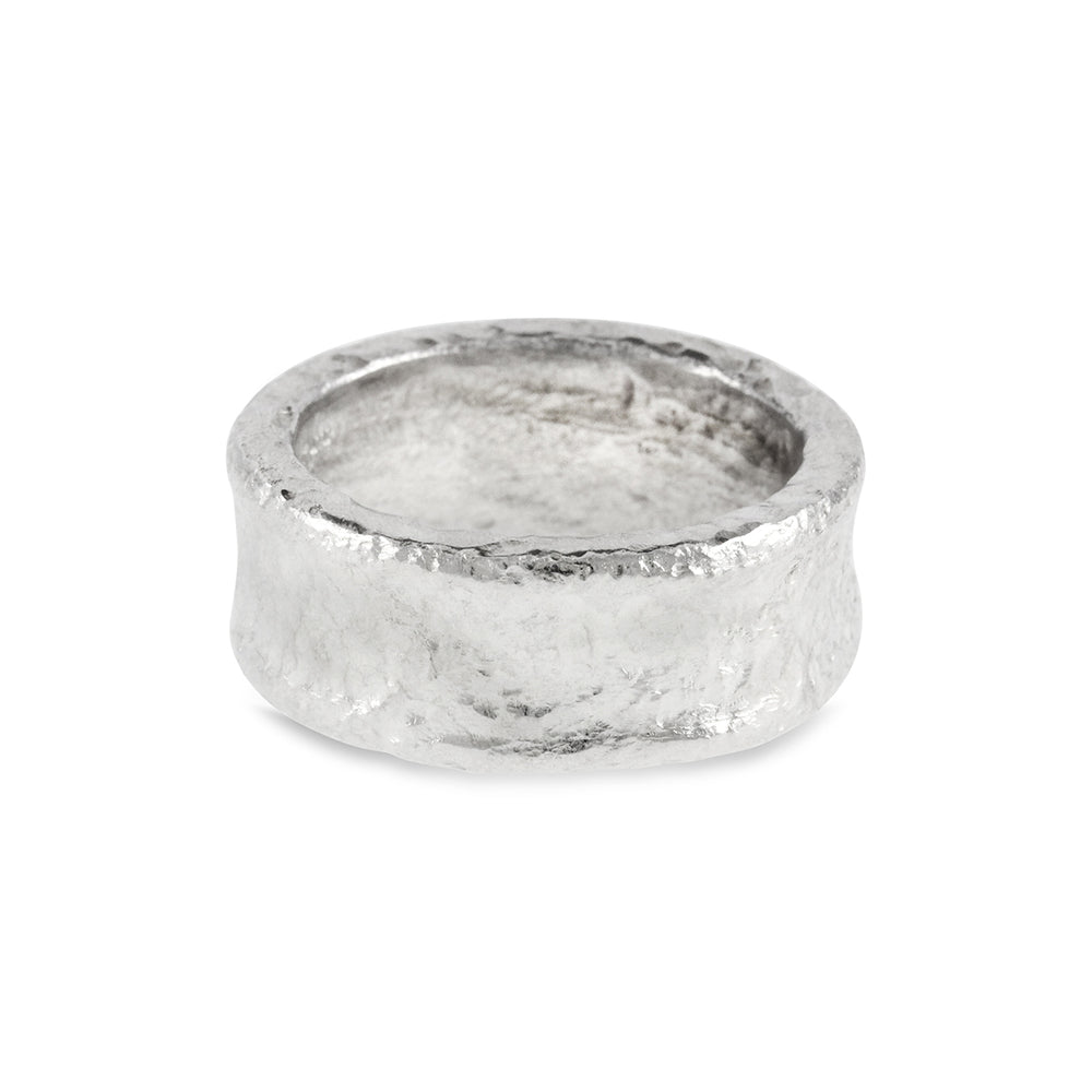 Rings handmade in silver with a rustic textural finish. - Paul Magen