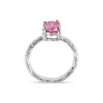 Ring handcrafted in silver set with pink cubic zirconia - Paul Magen