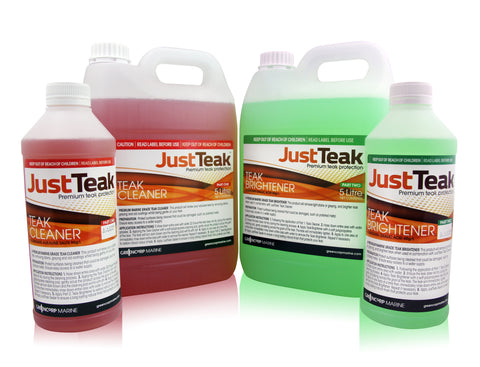 JustTeak Cleaner and Brightener Kit - Choose from 4 Different Sizes