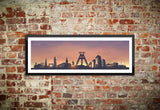 Bochum Skyline Wandbild Sunset