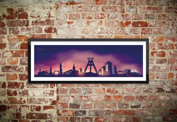 Bochum Skyline Wandbild Twilight