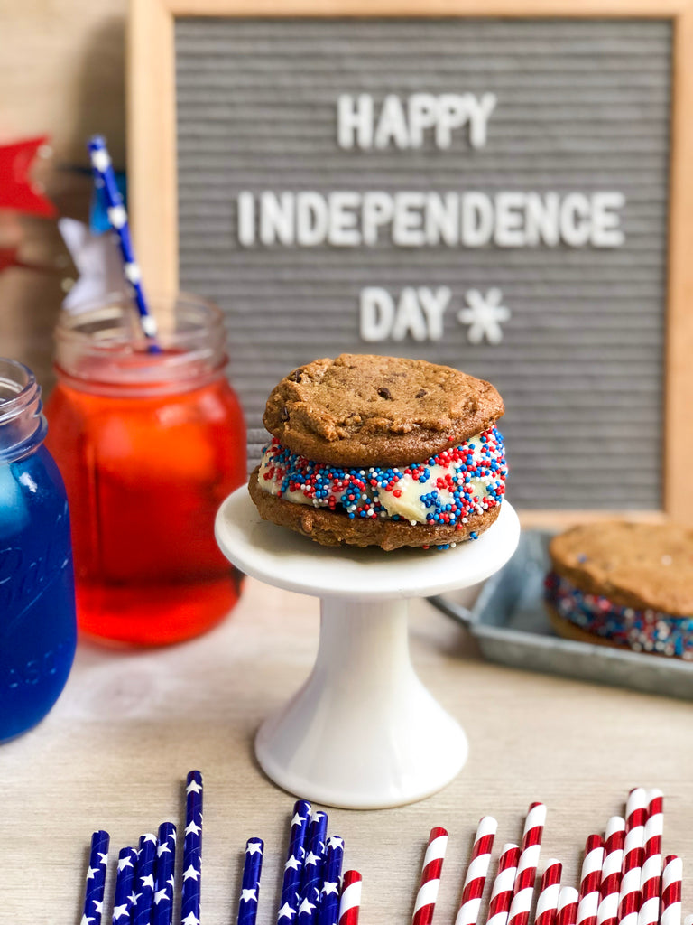 Independence Day Cookie Ice-cream Sandwiches