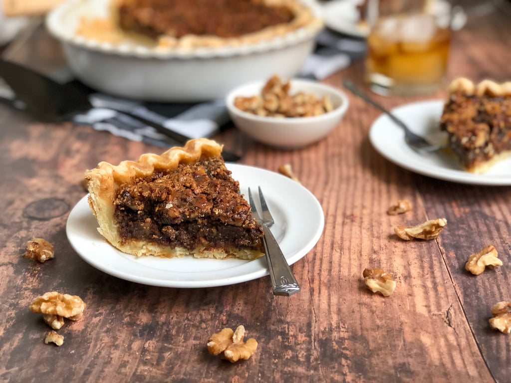 Walnut Chocolate Bourbon Pie