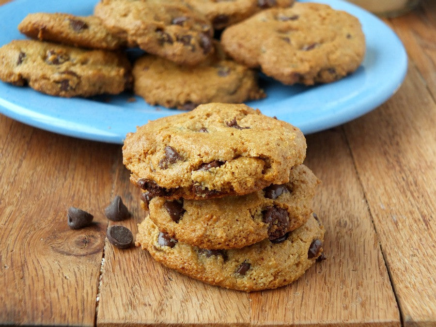 Almond Flour Sensual Chocolate Chip Cookies