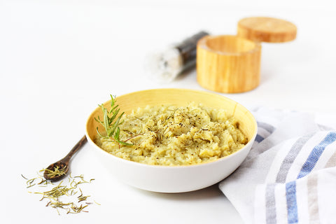 Garlic Rosemary Mashed Cauliflower
