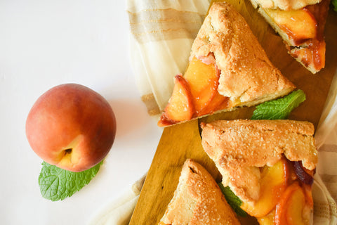 peach galette slices