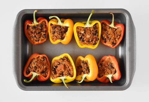 TVP Stuffed Bell Peppers