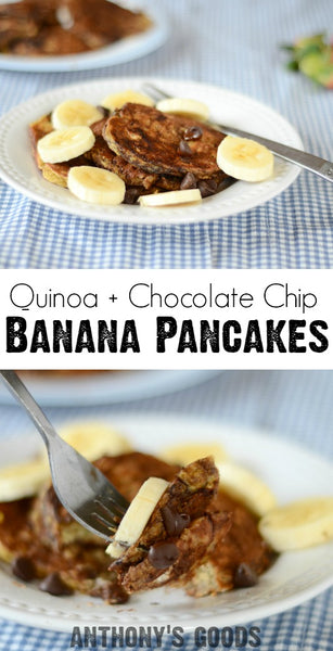 Quinoa Chocolate Chip Pancakes
