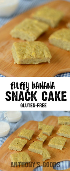 Fluffy Banana Snack Cake