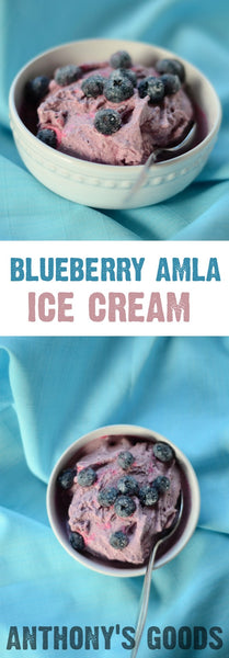 Blueberry Amla Ice Cream