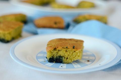 Almond Flour Blueberry Snack Cake