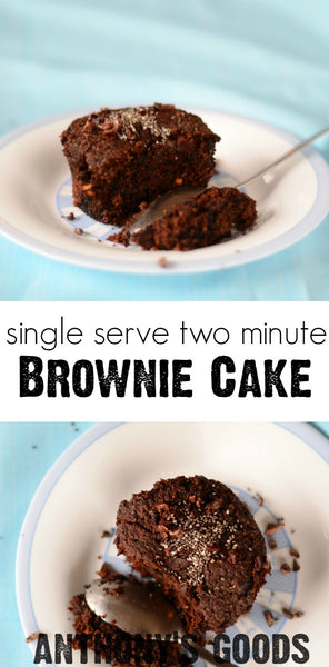 Single Serve Brownie Cake