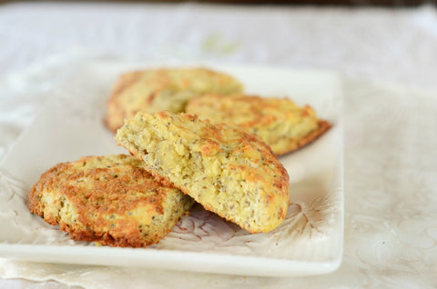 Lemon Chia Scones (sugar-free)