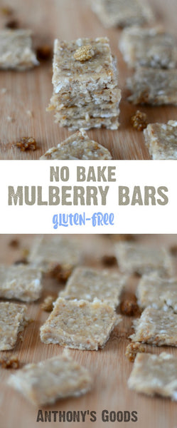 No Bake Mulberry Snack Bars
