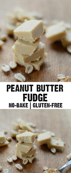 Healthy No Bake Peanut Butter Fudge