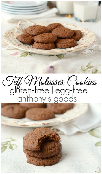 Teff Flour Molasses Cookies