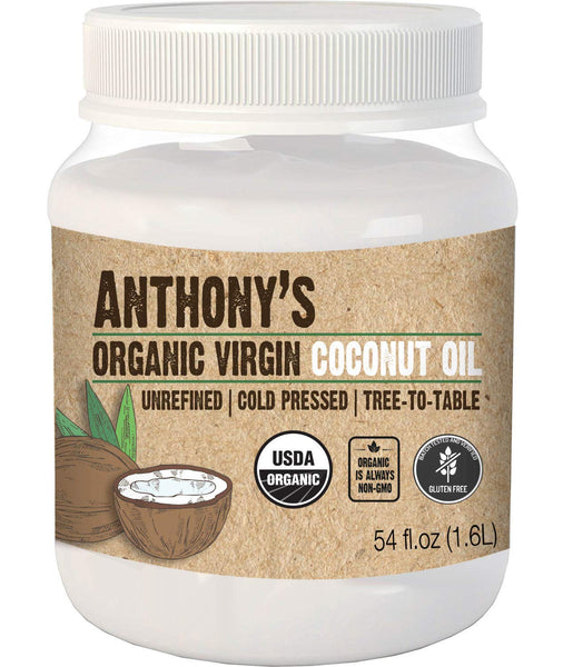 Organic Virgin Coconut Oil (54oz.): Unrefined & Cold Pressed