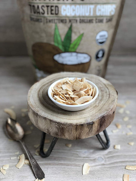 Organic Toasted Coconut Chips: Gluten Free, With Organic Cane Sugar & Salt