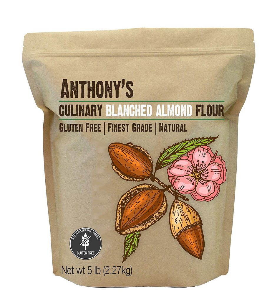 Blanched Almond Flour: Culinary Grade & Batch Tested and Verified Gluten-Free