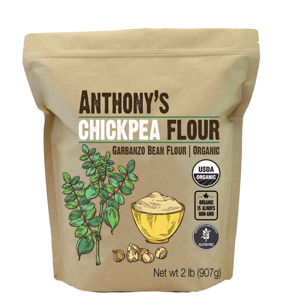 Chickpea Flour: Organic & Batch Tested Gluten Free